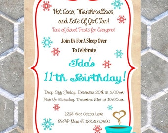Hot Chocolate Or Coffee Invitations