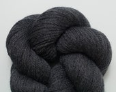 Tavern Gray Recycled Extra Fine Grade Fingering Weight Merino Yarn, Two Skeins Available, 471 Yards Total, Charcoal Merino Yarn