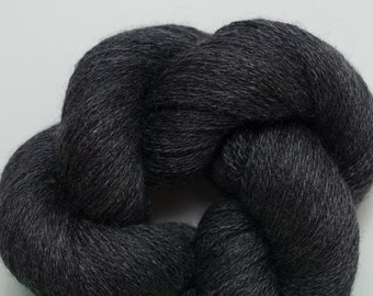 Wall Street Gray Wool Silk Cashmere Blend Reclaimed Yarn, 1906 Yards Available in 6 Different Length Skeins
