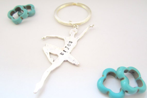 Personalized Ballet Keychain/ Dance/ Dance Team Gift/ Dancer Gift