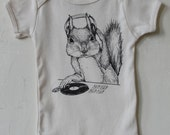 DJ Squirrel-This can get crazy!!  - Organic Infant Short-Sleeve Onesie