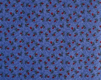 Material Girls Primitive Blue Flower Bud Fabric, by Cheri Strole, for Moda Fabrics, 100 Percent Cotton, Fabric by the Yard