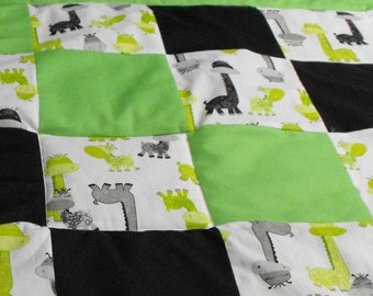 Giraffe Bedding Set for Toddler or Baby Includes Fitted Sheet Flat Sheet Pillow Case Two Valances and Comforter 6-Piece Set