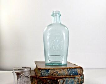 Double Eagle Half Pint Antique Flask