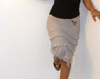Slim, Knee-Length, Pencil Skirt with Slit, lace, leather, & sequence