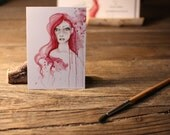 "Art ACEO Print ""It's All an Illustion"" Fine Art ACEO Print of my original Watercolor Painting Pencil Drawing Collectible Mini Artwork"