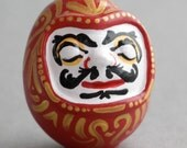 Unique Daruma Sculpture - Japanese Style Wishing Doll - Goal Doll - OOAK Handmade