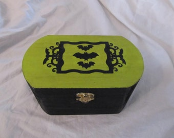 Victorian Bats Jewelry Stash Keepsake Box