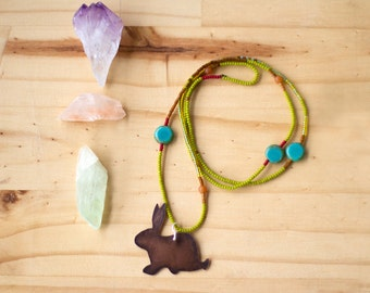 Rabbit Totem Bohemian Beaded Necklace