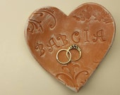 Handmade Pottery Mother's Day Rustic Heart Dish for Babcia