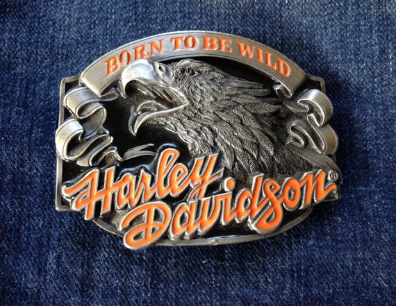 pewter vintage boucle de ceinture harley davidson official. Black Bedroom Furniture Sets. Home Design Ideas
