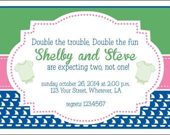 Sailboat Baby Shower Invitation