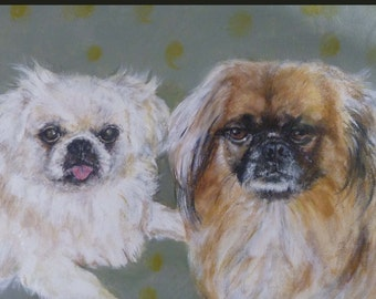 Sample Commission,I will paint a portrait of your pet ,  Custom made, Acrylic on canvas