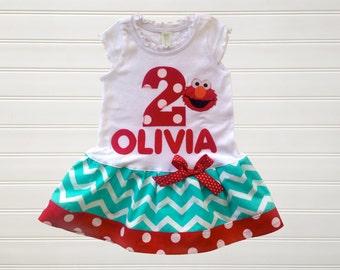 Personalize Birthday Dress Chevron Dress Birthday Dress  Baby Toddlers Sizes12 18 24 Months Girls 2 3 4 5 6 8