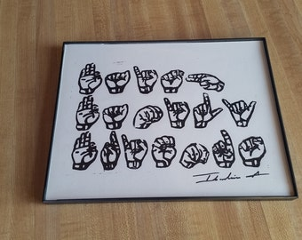 """American Sign Language ASL ..... """"Faith, Family, Friends"""""""
