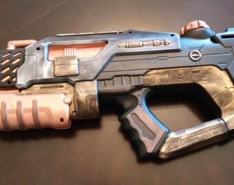 Futuristic Steampunk Cyperpunk Rifle LARP Cosplay