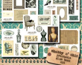 Shabby N' Chic - Printable Glue Book/Art Journal Bits