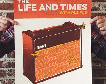 The Life and Times 2014 16 x 20 Screen Printed Show Poster