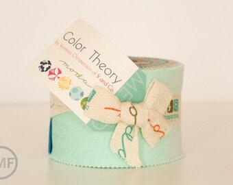 Color Theory Ombre Junior Jelly Roll, Vanessa Christenson, V and Co, Moda Fabrics, 10830JJR
