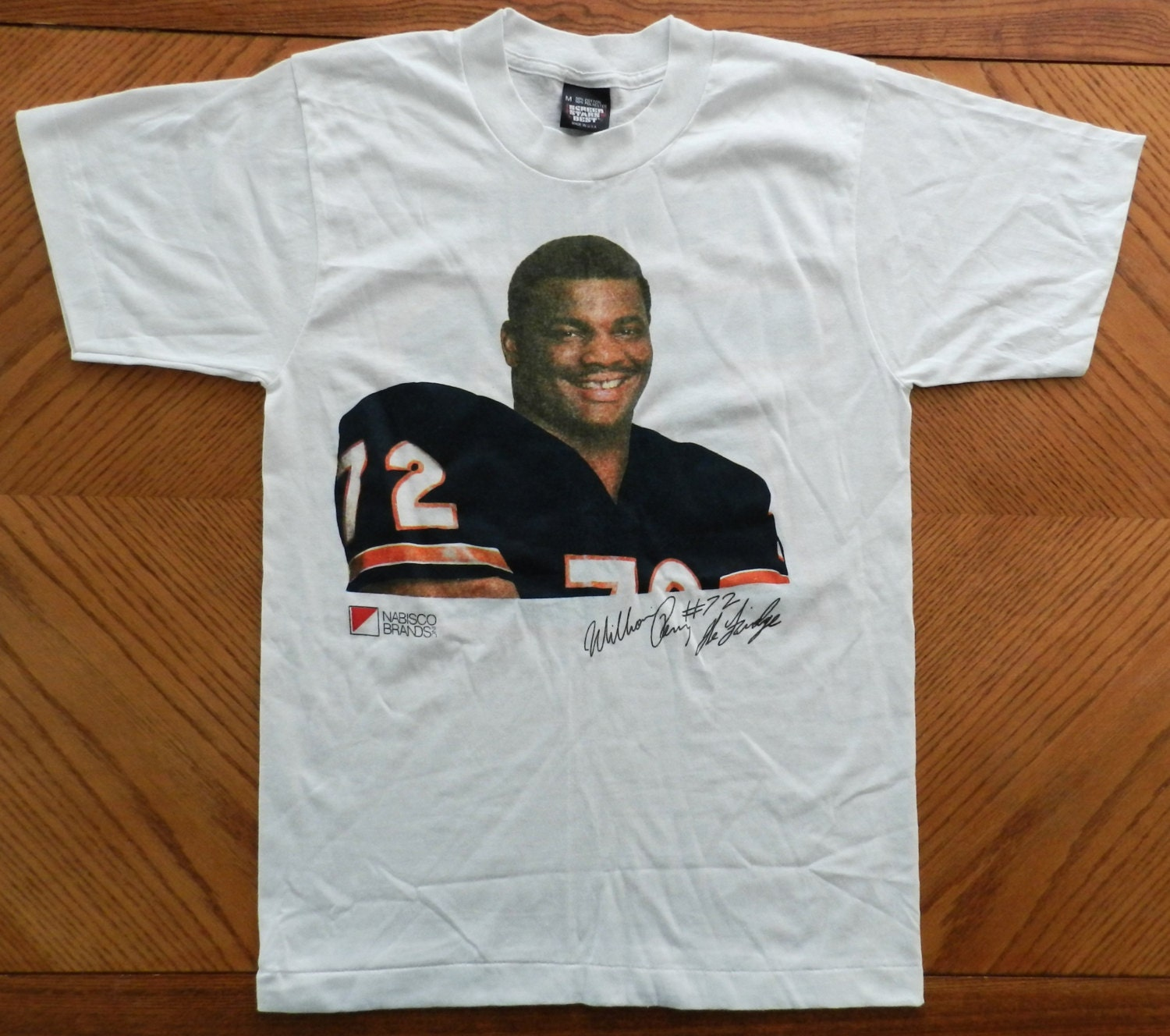 vintage the fridge chicago bears t shirt 80s william perry