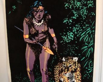 "Original"" The Huntress"" Vintage Blacklight Poster"