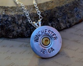 Shotgun Shell Jewelry Casing Pendant Necklace