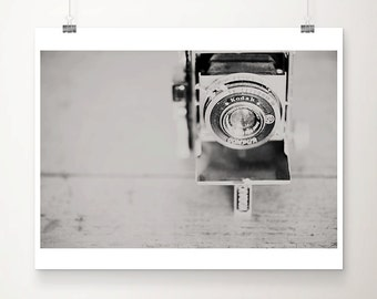 black and white photography vintage camera photograph still life photograph vintage camera print Kodak photograph Kodak print