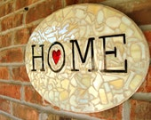 Heart Home Mosaic Sign