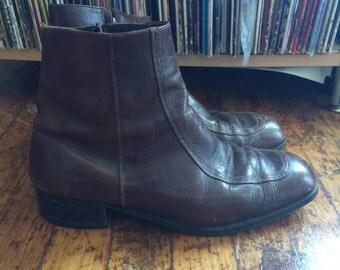 Vintage Brown Ankle Boots - Size 10D
