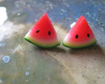 Watermelon Post Earrings