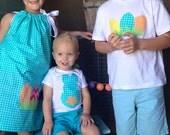Girl or boy, baby, toddler, tween Adorable Easter SHIRT, tie, Easter eggs or backwards bunny applique,  sizes NB - 16 Fun for  Easter hunt
