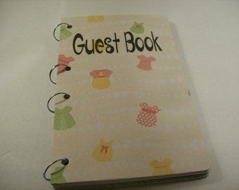 Baby Shower Guest Book Sign in Book New Mom Advice Book Baby Girl Baby Shower Autograph Book