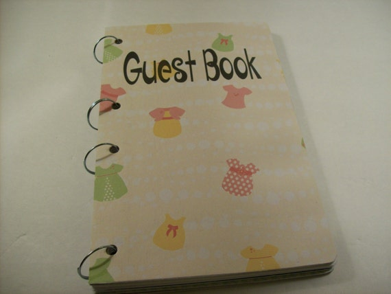 baby shower guest book shower sign in book new mom advice book baby