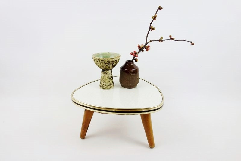Mid century german small plant table stand haute juice - Petite table haute ...