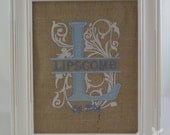 Personalized Royal Split Alphabet Letter Embroidery Home Decor