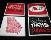 4 Georgia Bulldogs Coasters
