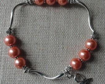 057 Uterine/Endometrial Cancer Awareness Bracelet