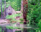 The Old Mill at Berry College --nature walk, woods, trees, leaves, moss, green, water mill