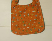 Baby Genius terrycloth cloth backed outer space themed baby bib toddler bib