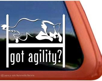 Got Agility   DC393GOT   High Quality Adhesive Vinyl Border Collie Window Decal Sticker
