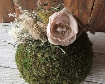 Vintage Moss Flower Crown