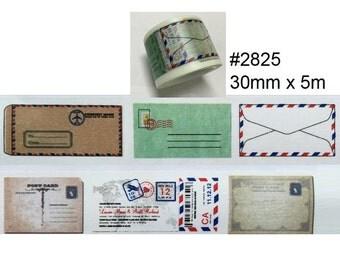 Vintage Style Envelope Washi Tape (30mm X 5M)