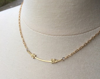 Leafy Bar Necklace