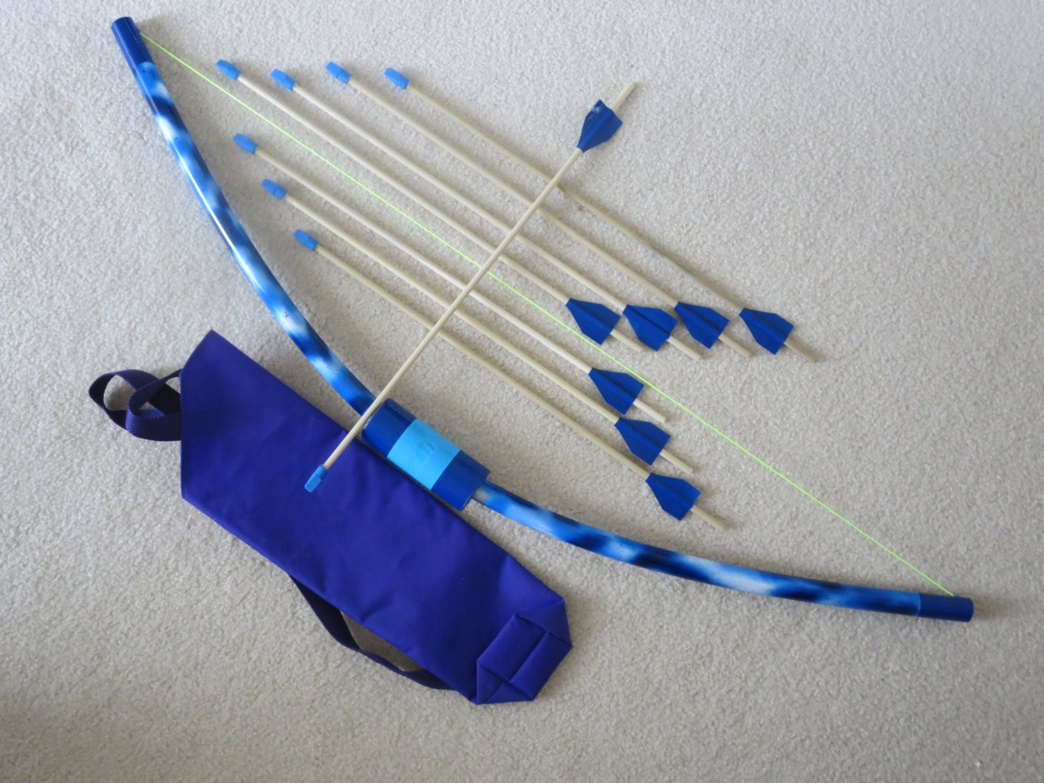 Bow and arrows for kids with quiver handpainted kids toy for Kids pvc bow