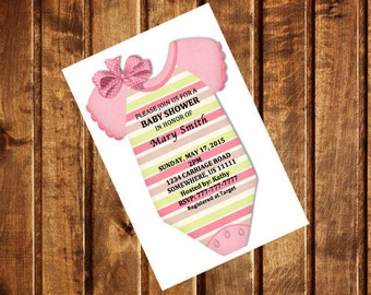 Printable Baby Shower Invitation Template (Girl)