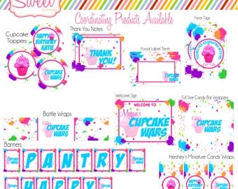 Cupcake Wars Party Package DIY printable