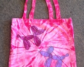 Small Cotton Balloon Dog Tote Bag