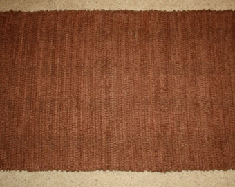 Handwoven Rag Rug -Chocolate Brown Chenille - super soft  - 46 inches....(#60)