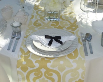 Choose your Table Runner, Yellow Table Runner - Yellow Wedding Linens - Yellow Table Topper - Alex Yellow Table Runner
