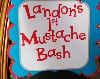 Little Man mustache bash door sign, mustache party, little man party